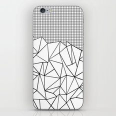 Abstract Outline Grid Black on White iPhone & iPod Skin