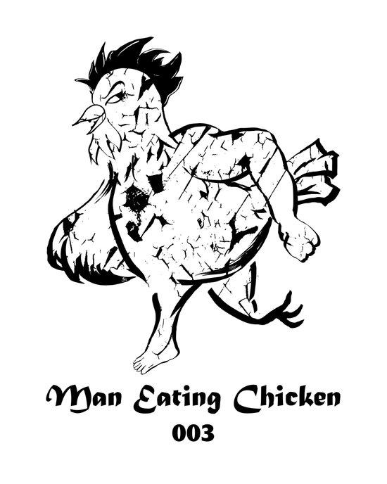 Man Eating Chicken 003 Art Print