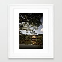Kinkakuji/The Golden Pavilion, Kyoto Framed Art Print