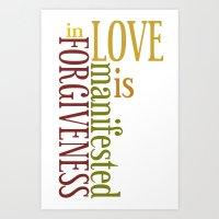 Love is Forgiveness 2 Art Print