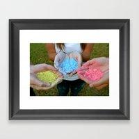 Chalk Hands Framed Art Print