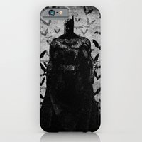 iPhone & iPod Case featuring The night rises B&W by UvinArt
