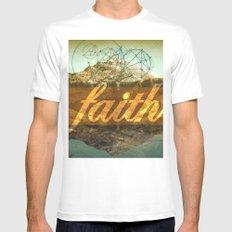 FAITH (1 Corinthians 13:13) White Mens Fitted Tee SMALL