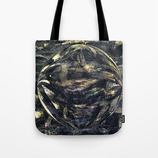 Dark Aluminum Sphere Tote Bag