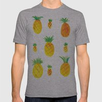 Pineapple Goodness Mens Fitted Tee Athletic Grey SMALL