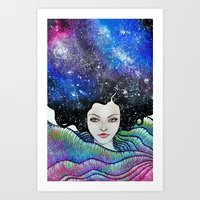 cosmic petals Art Print