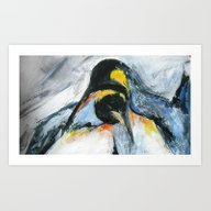 Art Print featuring Penguins by James Peart