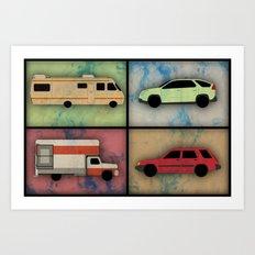 Wheels Art Print