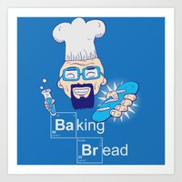 Baking Bread Art Print