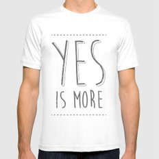 Yes is More SMALL White Mens Fitted Tee