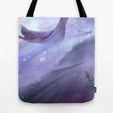 Drop in a purple ocean Tote Bag