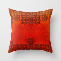City in a morning Throw Pillow