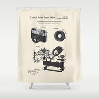 Camera Patent 1963 Shower Curtain