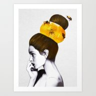 Art Print featuring The Bee Hive  by Jenny Liz Rome
