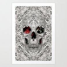 Lace Skull Light Art Print