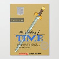 The Adventure Of Time Canvas Print
