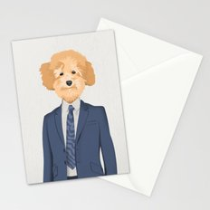Posing Poodle Stationery Cards