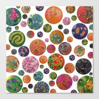 Petri Dish Polka Dot  Canvas Print