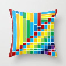 Fuzz Outline    Throw Pillow