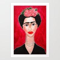 Frida Portrait Art Print