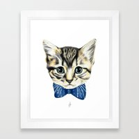 Un petit chaton Framed Art Print