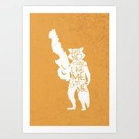 What's A Raccoon? Art Print