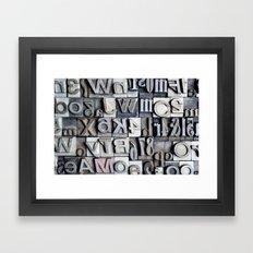 Letterpress Framed Art Print