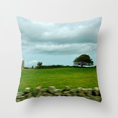 Speeding By The Irish Countryside Throw Pillow