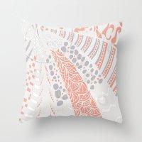 Orange world Throw Pillow