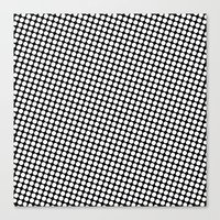 Canvas Print featuring WHITE DOT by Mr.DOT