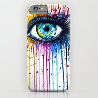 "iPhone Cases featuring ""Rainbow Eye"" by PeeGeeArts"