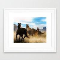 Dusty Trail Framed Art Print