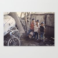 The Pig Keeper's Kids Canvas Print