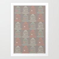 Bird Cage Pattern, Illus… Art Print