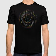 Rainbow Record SMALL Mens Fitted Tee Black