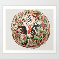 the biggest pizza ever Art Print