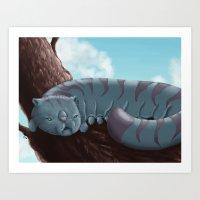 Cat'pillar Art Print
