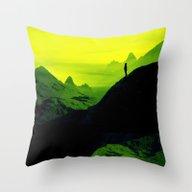 Vibrant Wasteland Throw Pillow