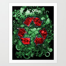 Recycle World - Green Art Print