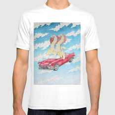 Best Day of the Best Friends Mens Fitted Tee White SMALL