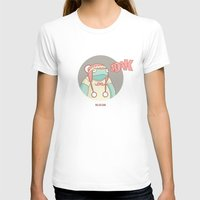 What does the frog say? Womens Fitted Tee White SMALL