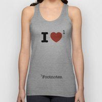 I Heart Footnotes Unisex Tank Top