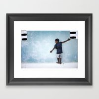 The Orphan And The Blue … Framed Art Print
