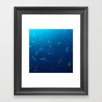 Tiny Yellow Fish Framed Art Print