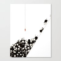 Red tag Canvas Print