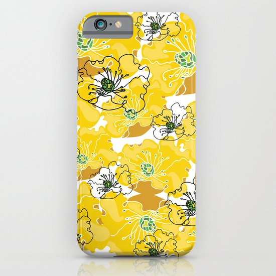 yellow marzipan flowers iPhone & iPod Case