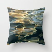 Water / H2O #42 (Water Abstract) Throw Pillow