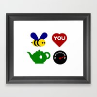 Talking Pictures (Beautiful) Framed Art Print