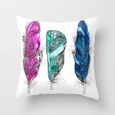 dream feathers 2 Throw Pillow