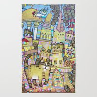 THE CITY OF 100 CATS Rug